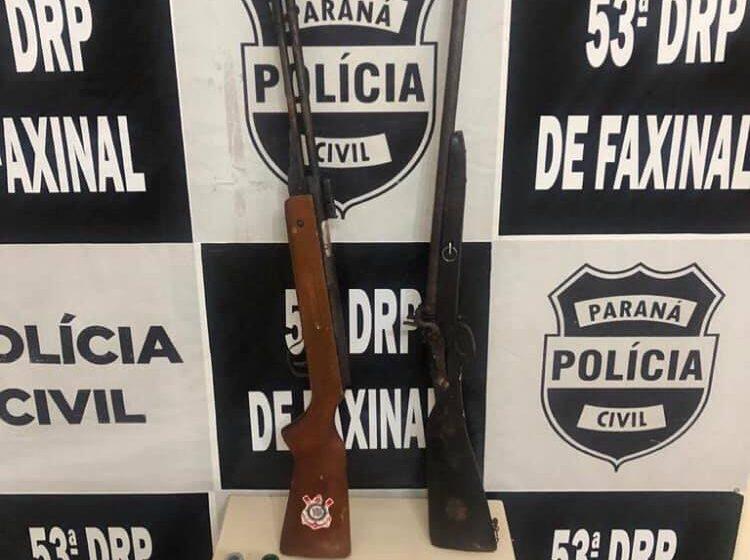 Polícia Civil prendeu acusado de posse de armas e munições em Rio Branco do Ivai