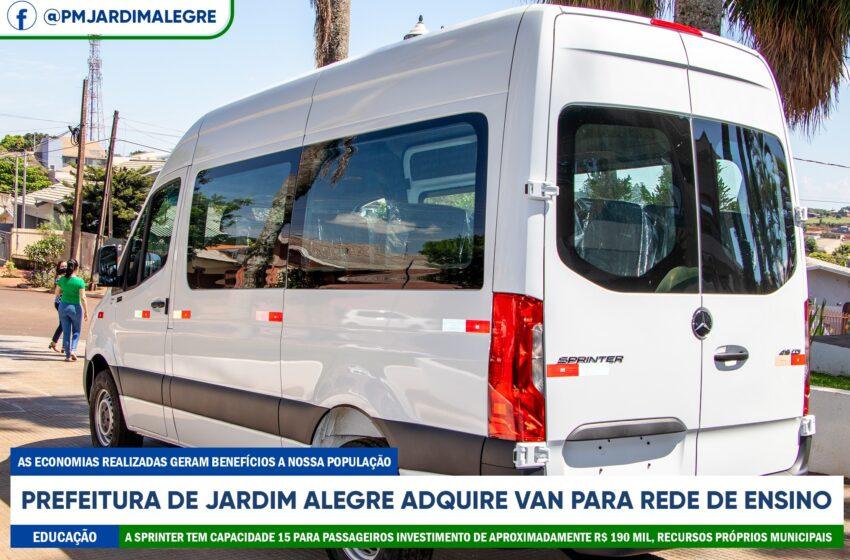 Jardim Alegre adquire Van 0km para a Educação