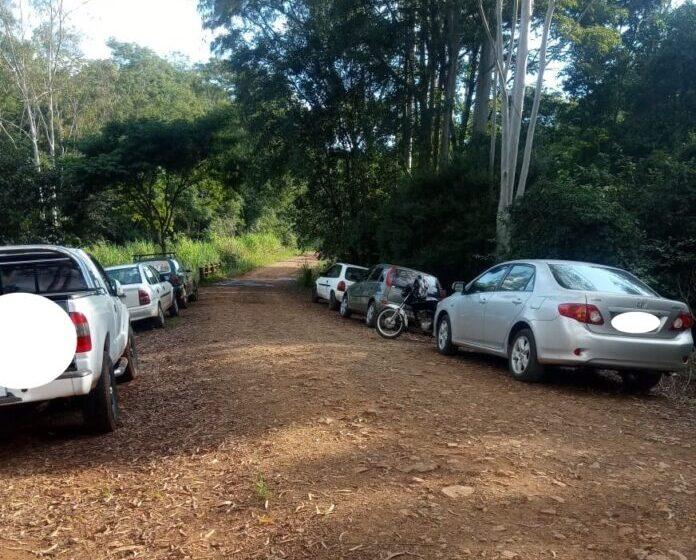Cachoeira do Palmerinha do Cambira foi ponto de aglomeração nesse domingo