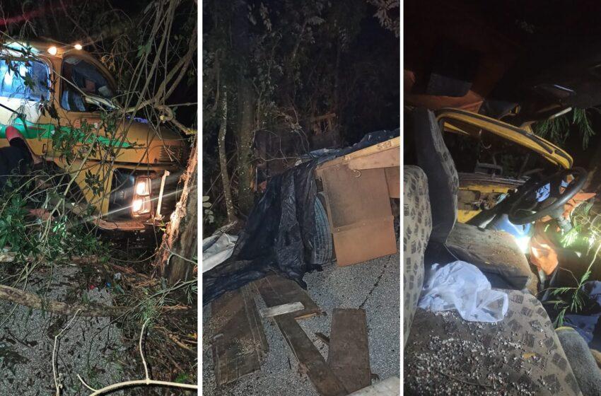 Caminhão desgovernado causa acidente próximo a Cruzmaltina