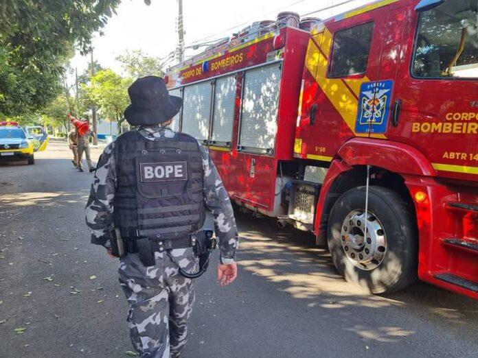 Maringá – Bomba caseira foi deixada em frente a RPC em Maringá