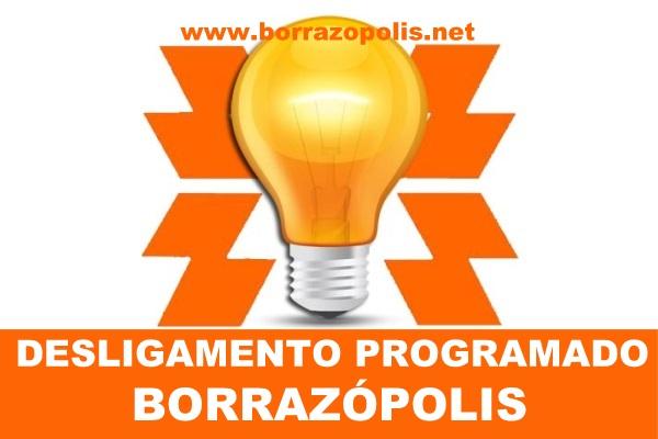 Comunicado de desligamento da Copel para Borrazópolis
