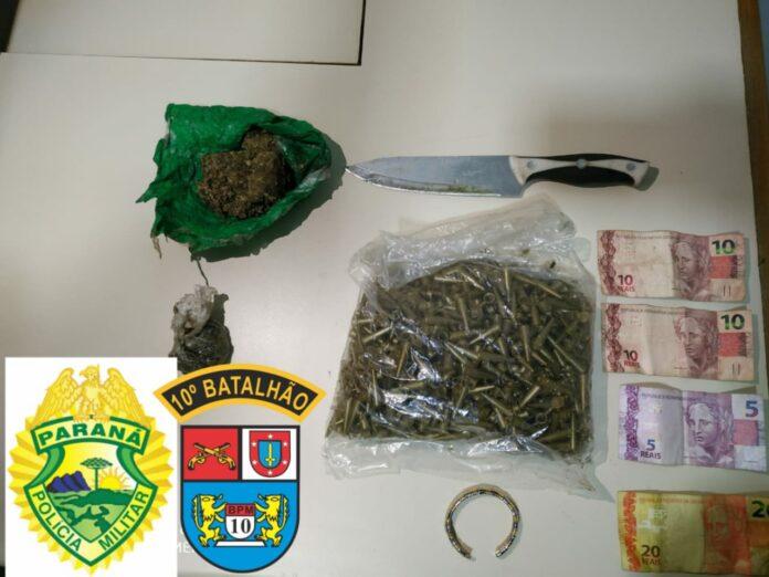 Jovem suspeito de tráfico foi preso na Vila Regina