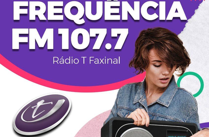 Rádio T de Faxinal muda de sintonia para 107,7