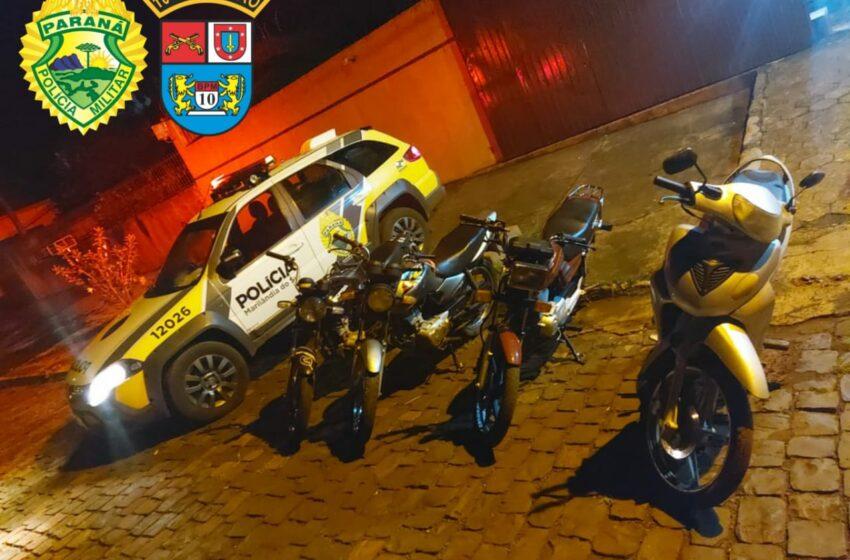 Polícia Militar faz bloqueio e apreende 4 motocicletas em Rio Bom