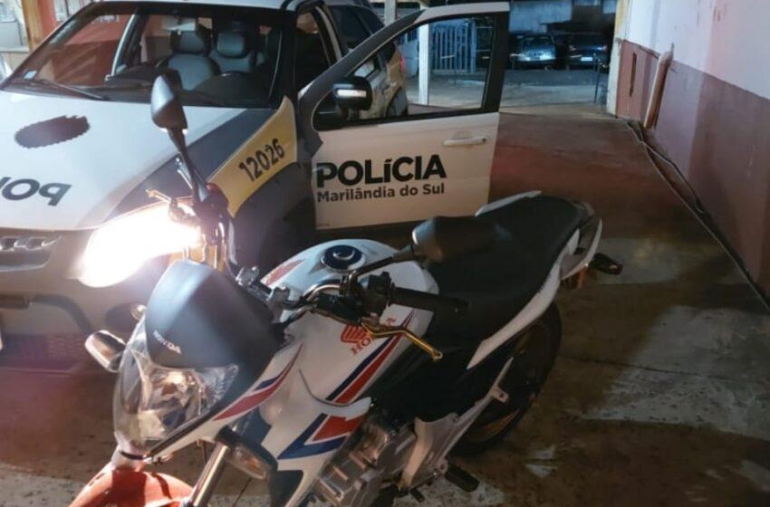 Polícia apreende moto pilotada por menor em Marilândia do Sul