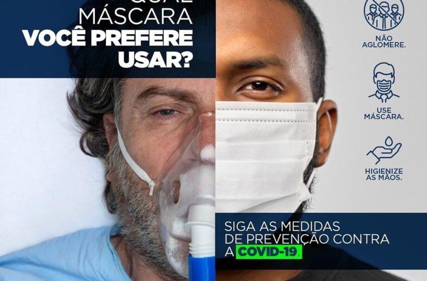 Prefeitura de Mauá da Serra faz campanha para intensificar o uso de máscaras