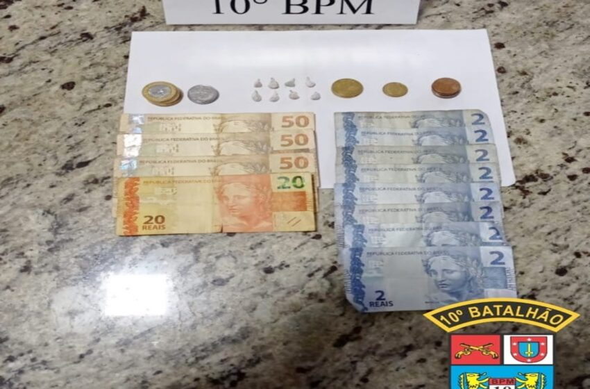 PM de Rio Bom apreende menor acusado de tráfico de drogas