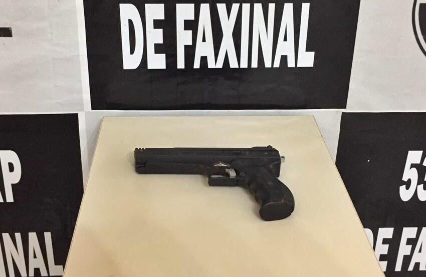 Polícia apreende arma utilizada durante assalto em Faxinal