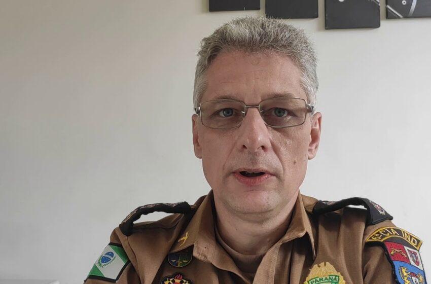 Boing deve deixar o comando regional da PM em Ivaiporã