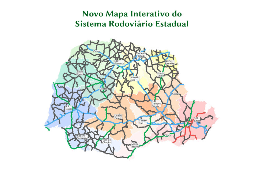 Estado lança mapa interativo de rodovias paranaenses