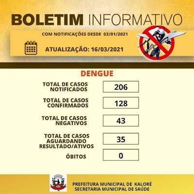 Kaloré divulga dados da Dengue