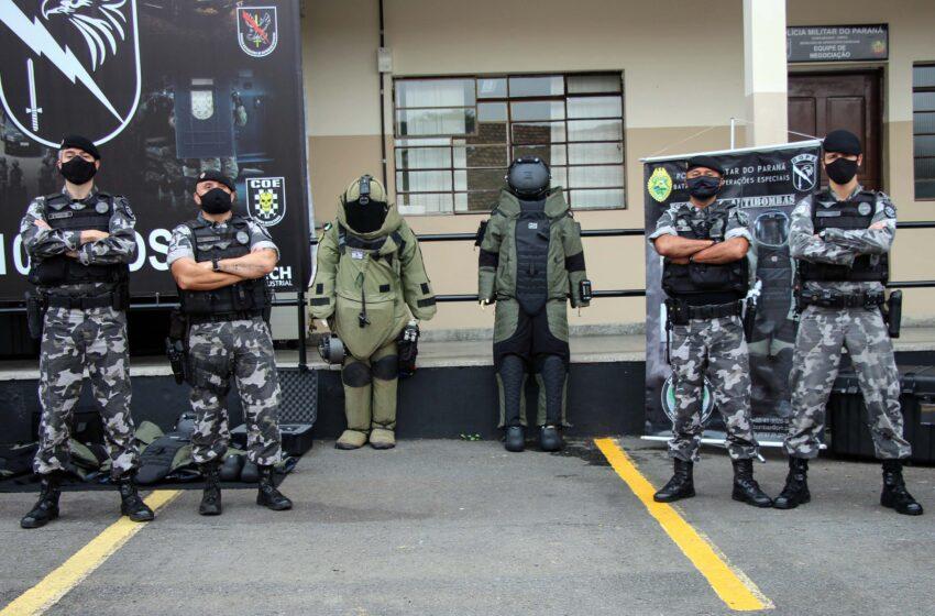 Esquadrão Antibombas recebe novos trajes de R$ 1,2 milhão para atendimentos de ocorrências