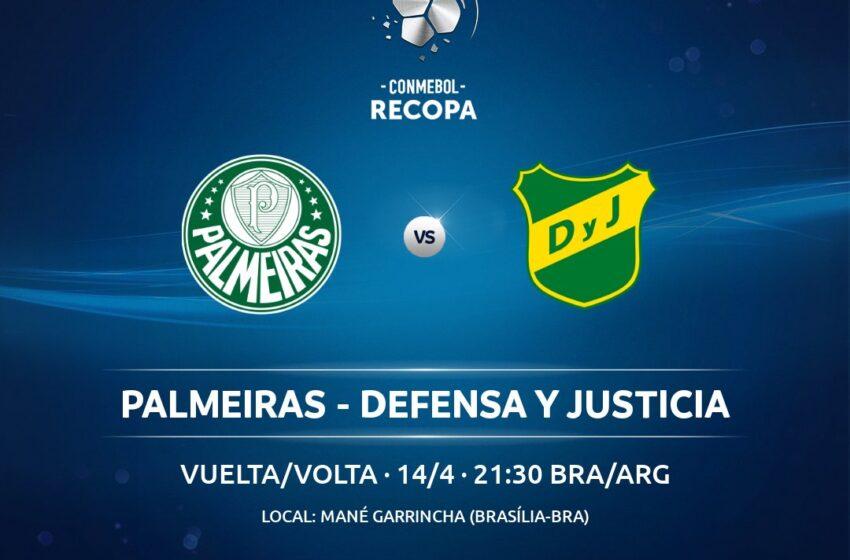 Conmebol confirma Palmeiras x Defensa y Justicia em Brasília