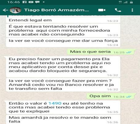 Comerciante teve seu aplicativo de WhatsApp clonado