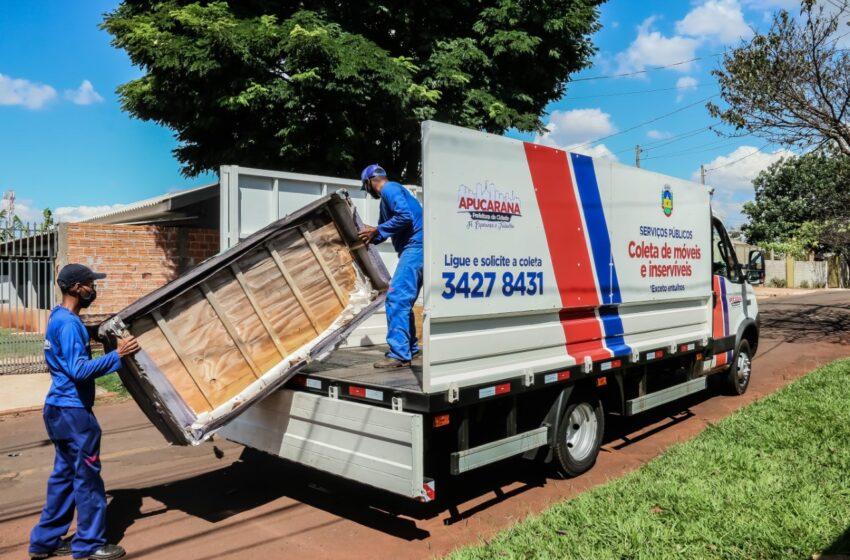 População de Apucarana aprova recolhimento de móveis e inservíveis da prefeitura