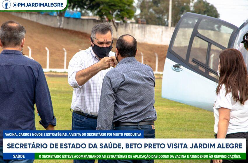 Secretário Beto Preto acompanha ações de saúde em Jardim Alegre