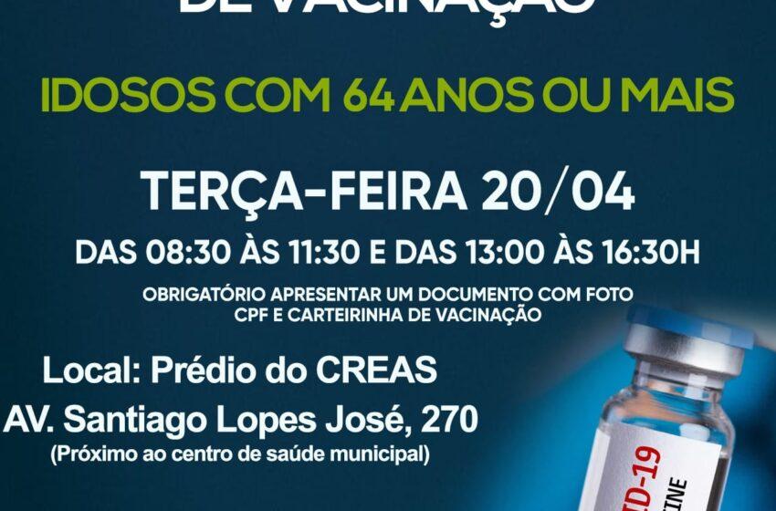 Marilândia do Sul divulga nova etapa de vacinação