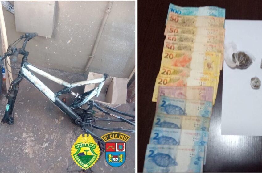 PM prende suspeitos de tráfico e receptação em Jardim Alegre