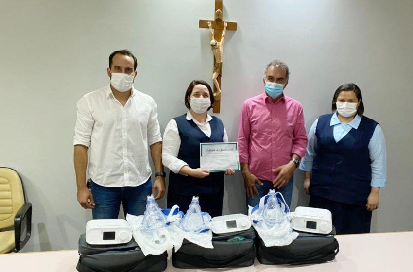 AMUVI faz entrega de equipamentos para o Hospital da Providência