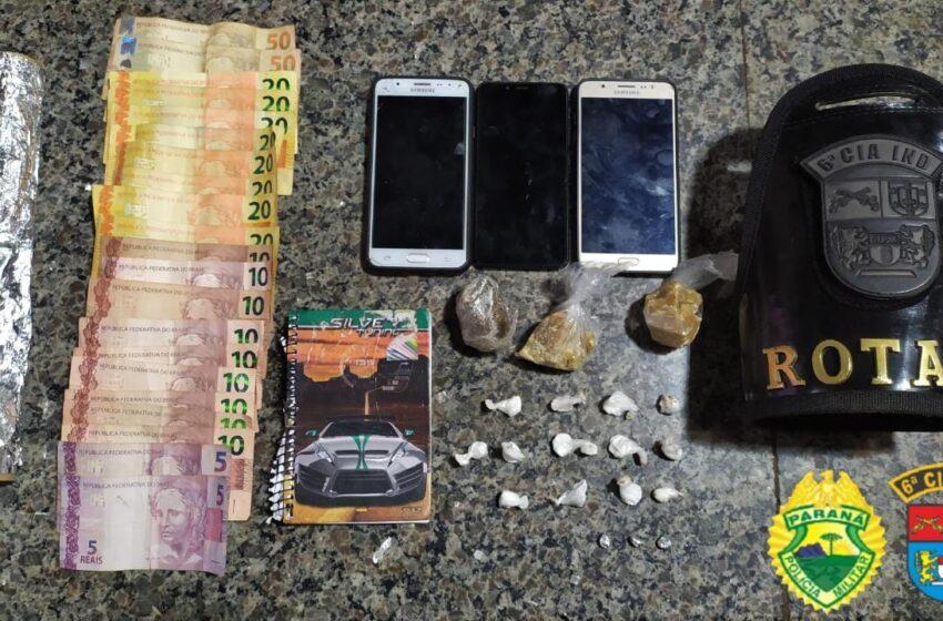 Após denúncias, polícia faz apreensão de drogas em Jardim Alegre