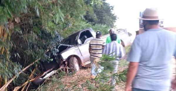 Acidente deixou dois feridos próximo a Cruzmaltina