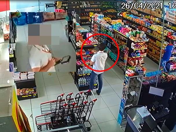 Homem é acusado de furtar mercado em Califórnia