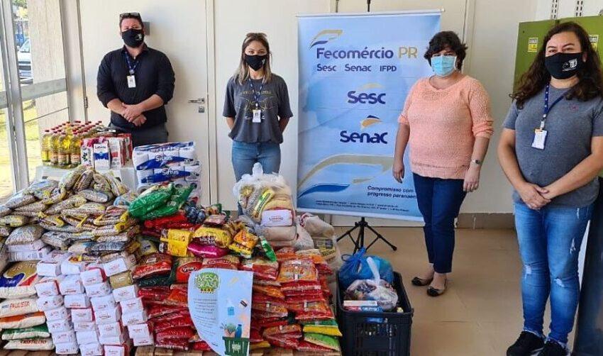 Em Ivaiporã 673 kg de alimentos foram doados pelo Sesc