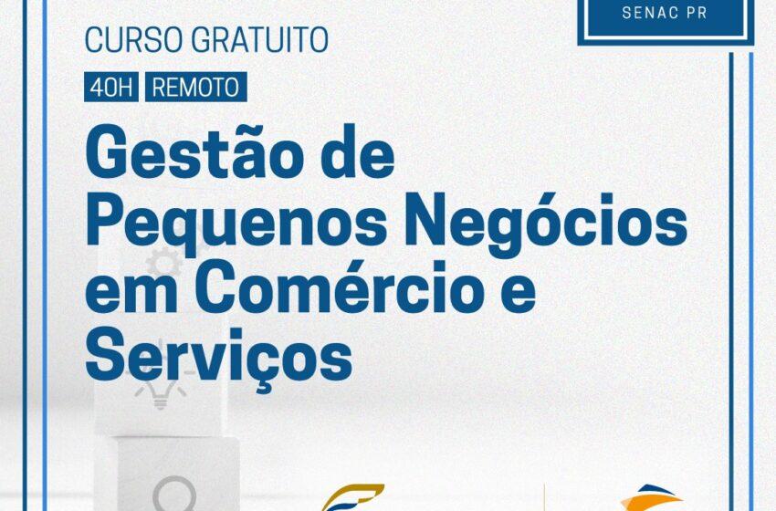 Senac oferece vagas gratuitas para o curso de gestão de pequenos negócios em comércio e serviços