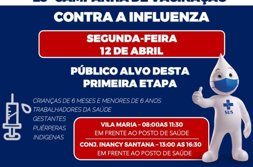 Começa nesta segunda-feira a campanha de vacinação contra a influenza em Mauá da Serra