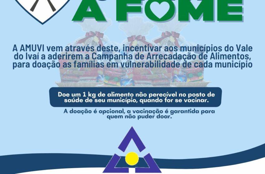 AMUVI promove campanha de arrecadação de alimentos em municípios do Vale do Ivaí