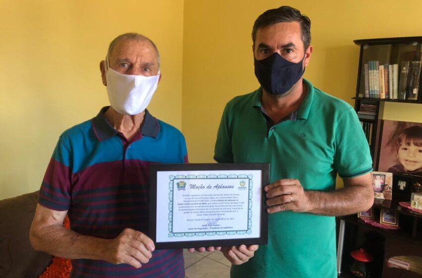 Pastor Josias Loureiro de Melo recebe Moção de Aplausos em Faxinal