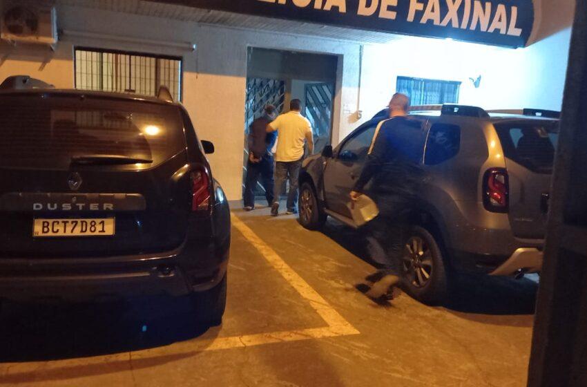 Polícia Civil de Faxinal prende suspeito de desferir golpes de faca em idoso