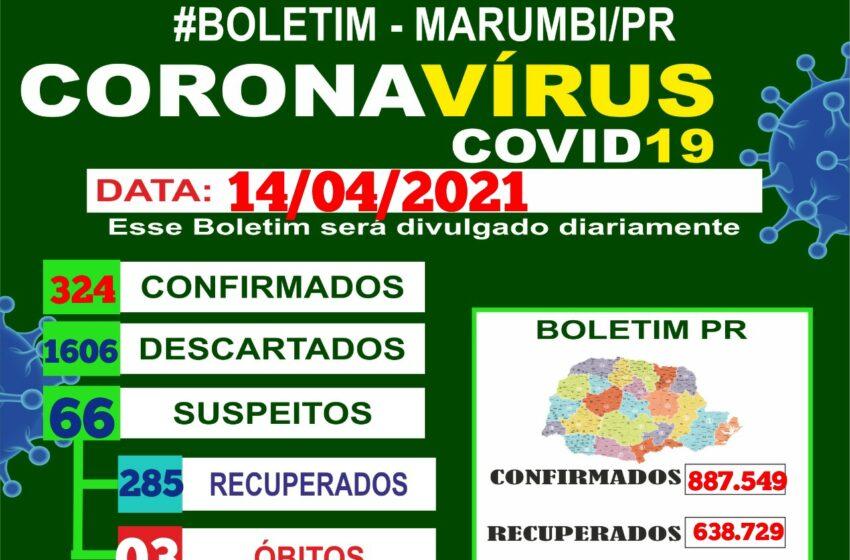 Confira o boletim Coronavírus de Marumbi