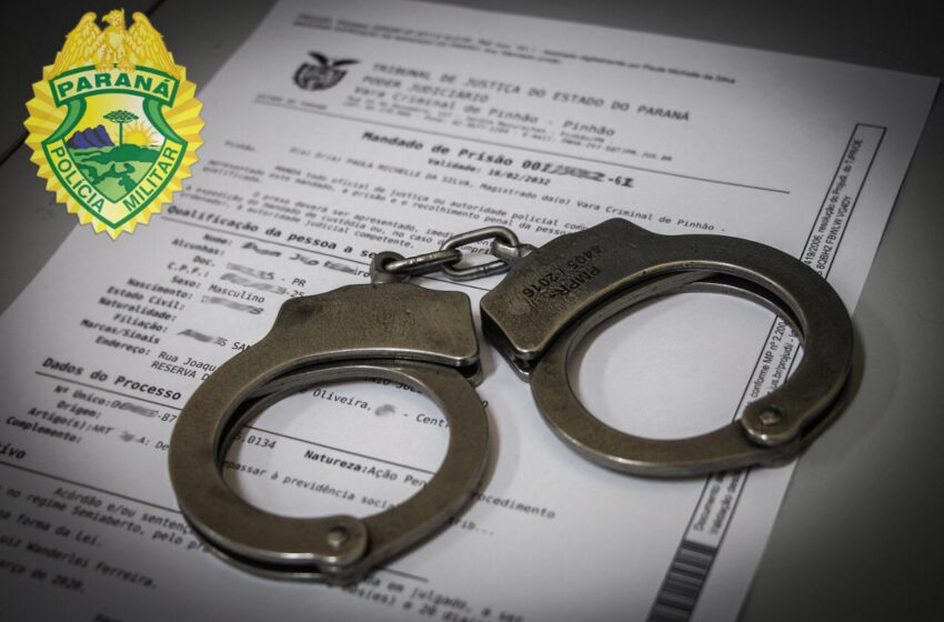 Em três situações distintas PM prende três indivíduos com mandados de prisão expedidos na região