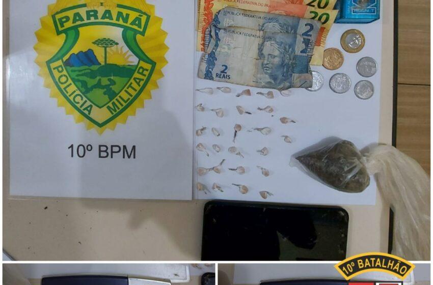 Jovem de 16 anos é apreendido por suspeita de tráfico de drogas em Marilândia do Sul