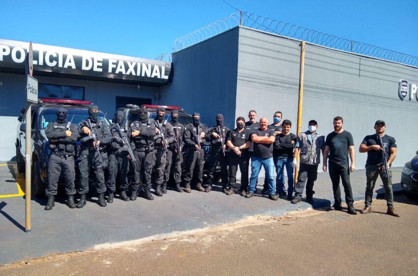 Operação bate grade é realizada na cadeia pública de Faxinal