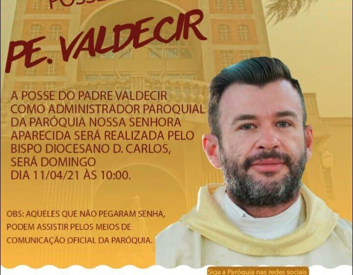 Convite para missa de posse do Pe. Valdecir Ferreira na Paróquia de Cruzmaltina