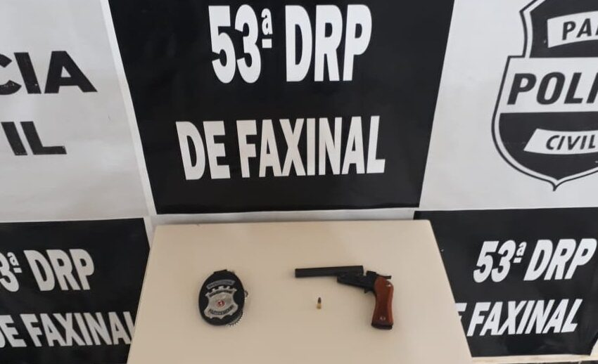 Jovem detido acusado de posse ilegal de arma em Faxinal