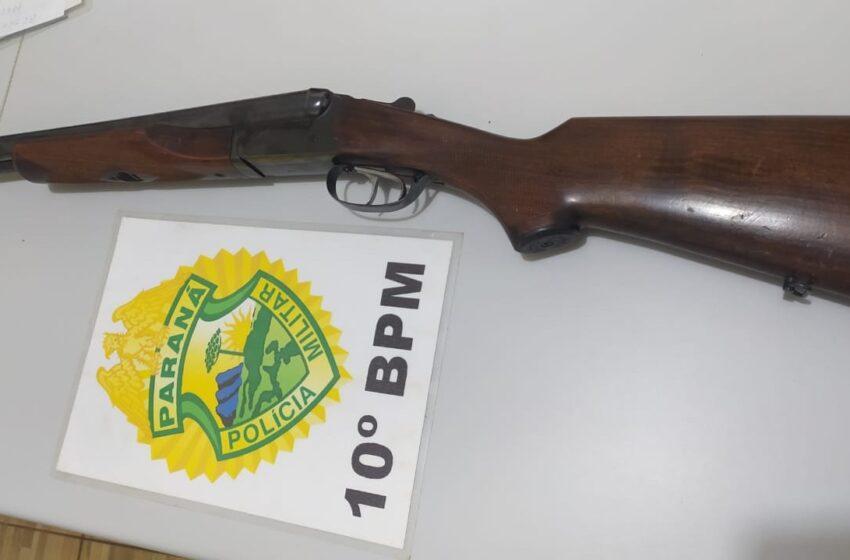 Em Mauá da Serra, homem é detido por posse de arma após acidente