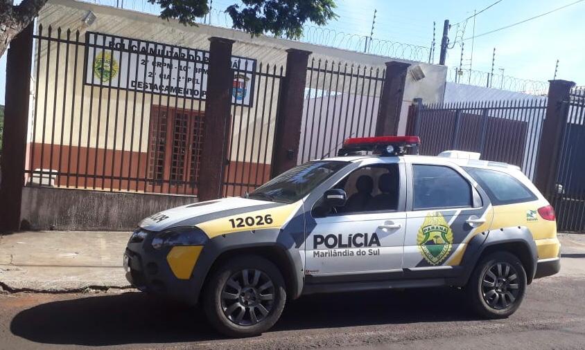 Mulher vítima de agressão procura socorro durante a madrugada, em Marilândia