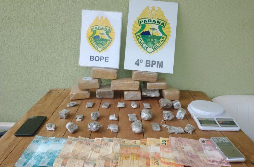 Polícia apreende grande quantidade de drogas em Mandaguari