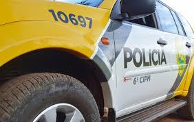 Polícia aborda indivíduo pilotando motocicleta sem Habilitação, em Faxinal