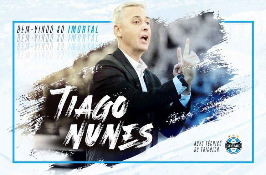 Grêmio anuncia oficialmente Tiago Nunes como novo técnico