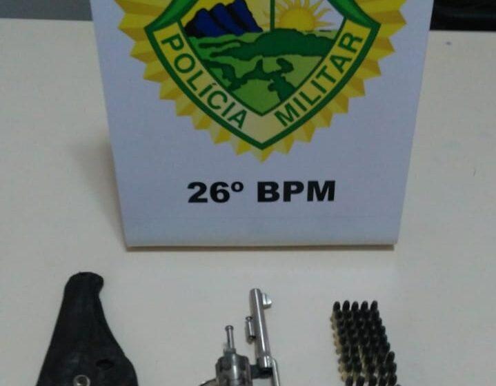 PM prende homem, apreende revólver e mais de 50 munições em Ortigueira
