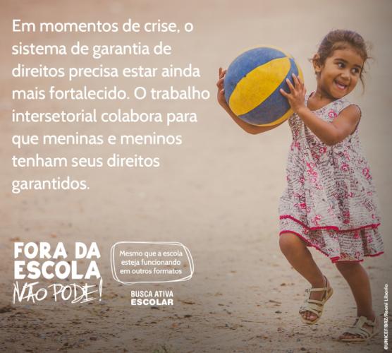"""TCE-PR adere à campanha """"Fora da escola não pode!"""", lançada hoje pelo Unicef"""