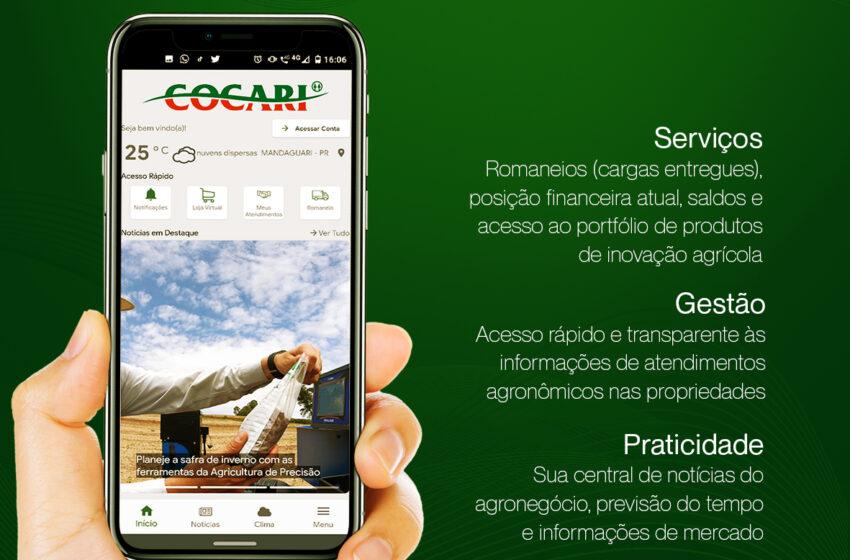 COCARI: Cooperativa lança aplicativo para produtores associados e clientes