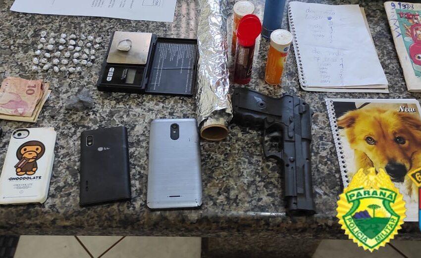 PM prende seis pessoas e apreende quase 300 gramas de drogas em Jardim Alegre e Lunardelli