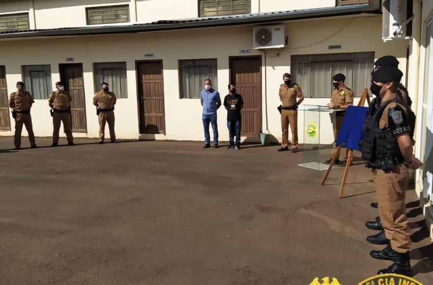 Solenidade em Ivaiporã (PR) é marcada pela entrega de Moção de Aplausos a militares estaduais e pelo reconhecimento dos Policiais Militares Destaque