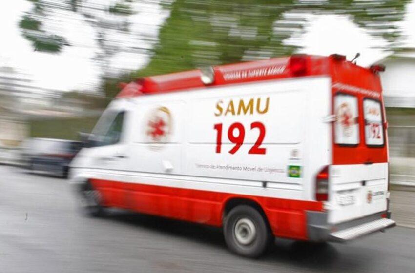 Jovem de Cruzmaltina fica ferido após acidente em Tamarana